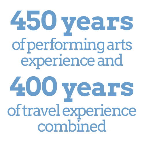 450 years of performing arts experience