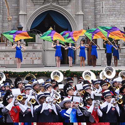 Parade of Bands at Walt Disney World
